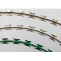 China NATO Razor Barbed Wire Strip With Hot Dipped Rolled Plate Blade Erosion Resistant on sale