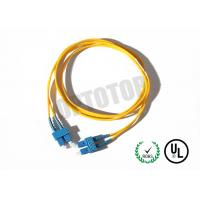 Best SC Connector Optical Patch Cord 2F ZIP 3.0mm OFNR CORNING SMF-28 ULTRA , Yellow Jacket wholesale