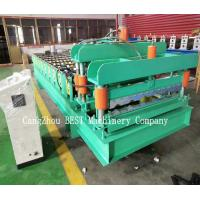 Buy cheap Trapezoidal Roof Tile Metal Making Roll Forming Machine PLC Control 380V from wholesalers