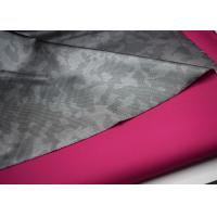 Quality Outdoor Waterproof Softshell Fabric , Polyester Twill Fabric Printed Film for sale