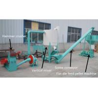 Quality 200 - 500kg/H Feed Pellet Production Line For Farm CE / ISO Certification for sale