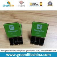 Quality Custom Green Plastic Panel Advertismental Black Binder Office Paper Clip w/Company Logo Printing for sale