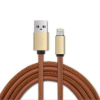 Quality PU Leather Micro USB Cable 2.4A Nylon Bradied Data Sync Function 4.2mm OD for sale