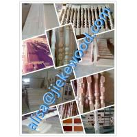 Quality sell rubberwood stair culomn solid wood stair specification for sale