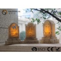 Quality Tombstone Shaped Halloween Led Candles With Color Changing Function for sale