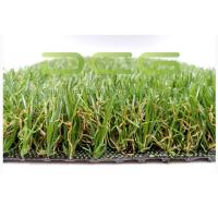 Quality Rectangle Evergreen Artificial Grass Garden PE Material High Color Saturation for sale