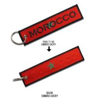 Buy cheap Pantone Color Embroidered Key Tags Durable Custom Embroidered Key Fob from wholesalers