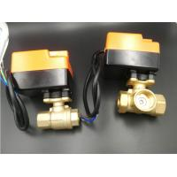 Quality Efficient Brass Material Motorized Ball Valve For Fan Coil Units 2 Pipe System / 4 Pipe System for sale