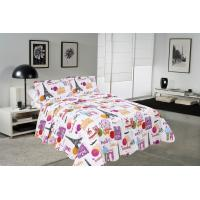 Best Modern Style Printed Quilt Set With Classic Ticking Printing For Bedrooms wholesale