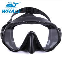 China Tempered Glass Lens Silicone Diving Mask With Food Grade Liquid Silicone Skirt on sale