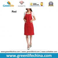 Quality Hot sale popular red color custom advertising apron for sales promotion cheap China price for sale