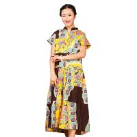 Quality Traditional Chinese Women'S Dress , Ladies Long Cotton Dresses Stand Neckline for sale