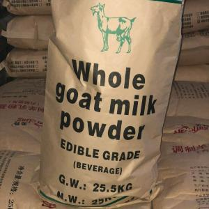Quality Premium Full Fat Whole Raw Goat Milk Powder 25kg For Formula Ingredient for sale