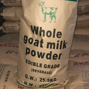 Quality White Low Fat Full Cream Goat Milk Powder Uniform Composition for sale