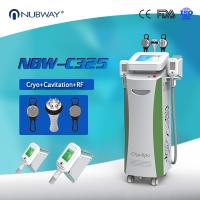 Quality 5 Handles Cool Tech Cavitation RF Cellulite Removal Machine / Cryolipo Slimming Machine for sale