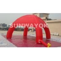 Best Red 210D Nylon UV Resistance Inflatable Spider Tent With 6m Dia Fourfold stitching at bottom wholesale