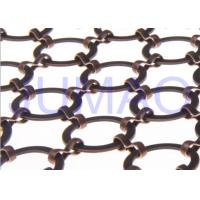 Quality Bronze Hotel Metal Ring Curtain Antique Copper Space Partition With 22 Mm Rings for sale