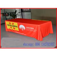 Quality 6Ft Pantone Match printing Tension Fabric Displays Printed Tablecloth Runner for sale