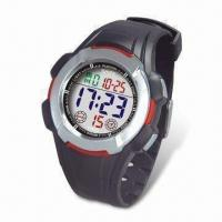 Quality LCD Digital Sports Watch with TPU Strap and Stainless Steel Buckle for sale