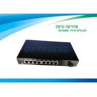Cheap Full Duplex Optical Fiber Switch 8 Port 1536 Bytes Frame UTP Cable for sale