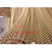Quality Decorative metal mesh curtain / Chain link fence / Decorative wire mesh for room for sale