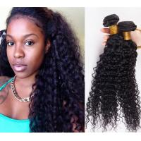 China Long Lasting 100% Brazilian Curly Human Hair , No Tangle Unprocessed Human Hair Extensions on sale