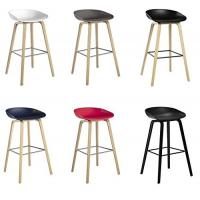 Quality Beech Wooden Hay Bar Stool , Optional Colors Kitchen Counter Stools 75cm Height for sale