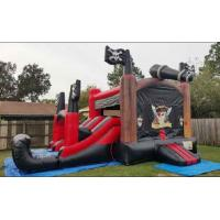China Customized Double Lane Pirate Inflatable Slide Jumping Bouncer Slide Combo on sale