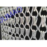 Quality Silver Color Aluminum Metal Chain Link Curtains Durable For Ceiling / Wall for sale
