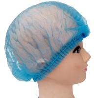Quality PP Non Woven Disposable Head Cap Bouffant Strip Clip Cover Dust Proof for sale