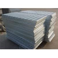 Quality Flat Stair  Gully  Galvanized Serrated Grating 30 X 4mm With 6X6 Or  8X8mm Bar for sale