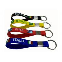 Quality Girls Personalised Color Silicone Key Chain For Promotion Gift , 202 x 12 x 2mm for sale