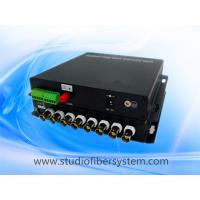 China compact 8CH AHD video audio fiber transmitter and receiver for remote CCTV surveillance system on sale