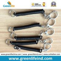 Buy cheap Plastic Solid Black Short Key Safe Holder Coiled Rope from wholesalers