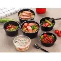 China Round Shape Injection PP Plastic Food Cups , Thicker Takeaway Soup Bowls on sale