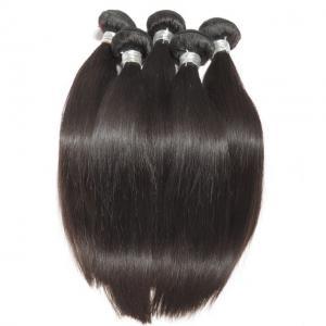Straight Virgin Human Hair Bundles Peruvian Hair Extension Full Cuticle No Acid