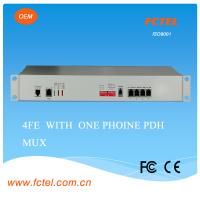 Quality 19inch G.703 BNC to fiber multiplexer 16E1 PDH MUX 120km ,AC+DC power for sale