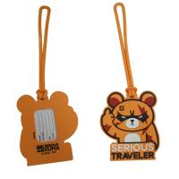 Quality Custom Cartoon Design 3D Embossed Logo Soft Touch PVC Silicone Plastic Luggage Tag Souvenir for sale