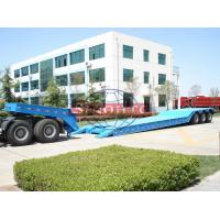 Quality Tri Axle Front Loading Low Bed Semi Trailer Gooseneck Hydraulic Detachable Type for sale