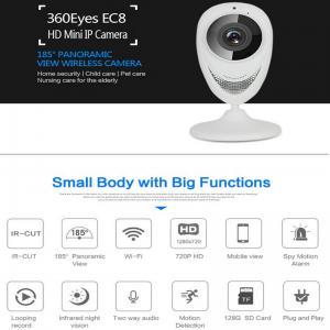 Quality EC8 HD 720P Mini Wifi IP Camera Wireless P2P Baby Monitor Network Remote CCTV Surveillance DVR Camera Playback on App for sale