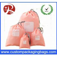 Quality Rope Customized Promotional Drawstring Gift Pouches , Polyester Drawstring Bag for sale