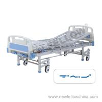 Quality Manual Three Function Medical Hospital Beds With Foldaway Aluminum Alloy Guardrail , 5 Inch Silent Caster , 8 Legs for sale