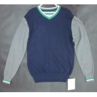 China Customized Mens Wool Sweaters Long Sleeve Basic Striped For Boys on sale