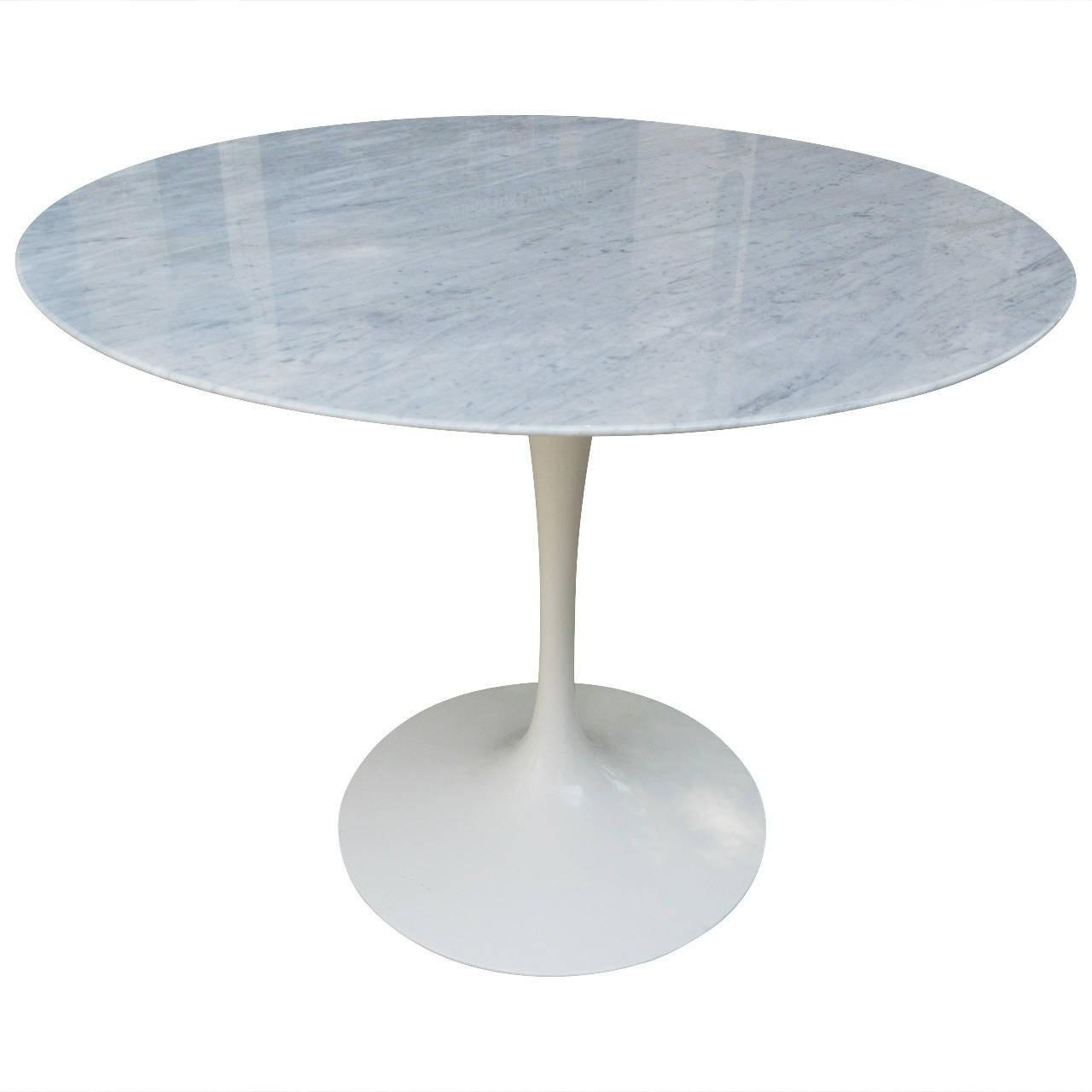 Quality Replcia Designer Furniture Saarinen Style Round Marble Dining Table for sale