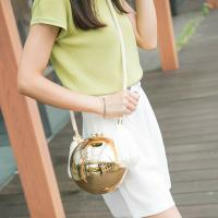 Fashion wedding ladies crystal box dinner purse evening party clutches bags ball shape party bags