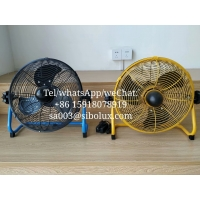 """Quality 12 inch Electric Battery Rechargeable outdoor fan /12"""" Ventilador recargable al aire libre With 24V AC adapter for sale"""