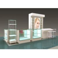 Buy cheap Flooring Type Beauty Product Display Stand Cosmetic Display Showcase With Glass from wholesalers