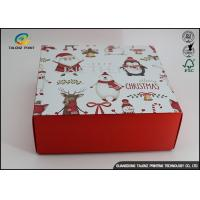 Quality Customized Chrismas Luxury Christmas Packaging Paper Gift Box Recycled Materials for sale