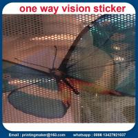 Quality Double-sided Two Way Vision Vinyl Window Sticker for sale