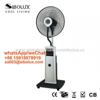 """Quality 16"""" electric plastic LED display mist fan with remote for office and home appliances/misting standing fan/air cooling for sale"""